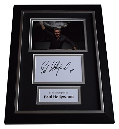 Price comparison product image Sportagraphs Paul Hollywood Signed A4 FRAMED photo Autograph display Bake Off TV AFTAL COA PERFECT GIFT