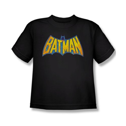 Dc Comics - Jugend Batman Neon Distress Logo T-Shirt in schwarz, X-Large, Black (Batman-logo-jugend-t-shirt)