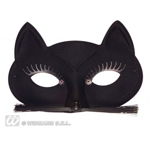 Schwarze Maske Katze Katzenmaske Augenmaske Katze
