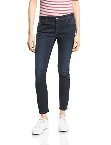 Street One Damen Slim Jeans 371226 York, Blau (Blue Denim Wash 11081), W29/L30