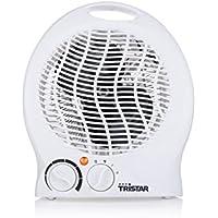 Tristar KA-5039 - Calefactor eléctrico 3 funciones ajustables, termostato regulable, ventilador, 2000 W