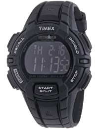 Timex Unisex Quartz Watch with Black Dial Digital Display and Black Resin Strap T5K793