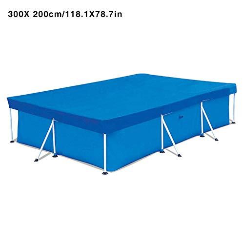 Luerme Regenfeste Schutzhülle für Schwimmbeckenplanen Schutzhülle für Schwimmbecken für rechteckige Power Steel-Schwimmbecken