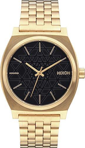 Nixon Reloj Analógico Unisex con Correa de Chapado En Acero Inoxidabl