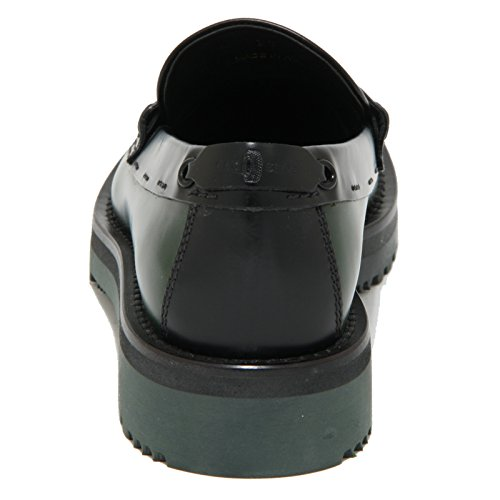 1819O mocassino CAR SHOE verde bosco/nero scarpe donna loafer women verde bosco/nero