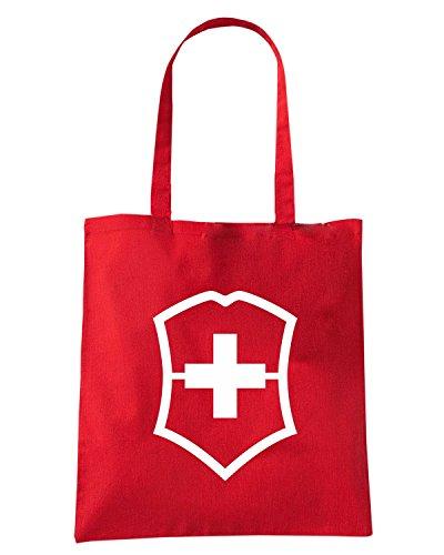 T-Shirtshock - Borsa Shopping TM0413 SwissArmy militari Rosso