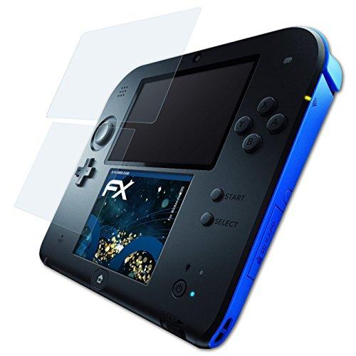 atFoliX Schutzfolie kompatibel mit Nintendo 2DS Panzerfolie, ultraklare und stoßdämpfende FX Folie (3er Set) -