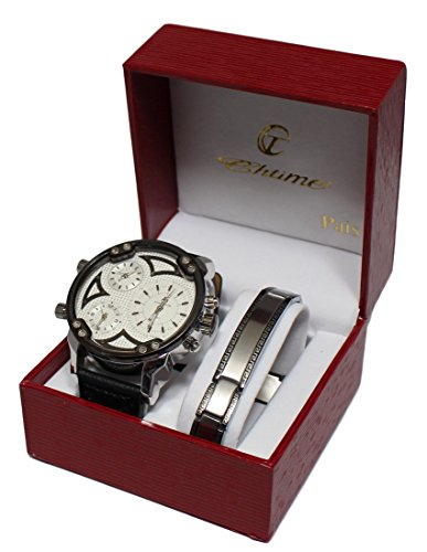 Herren-Armbanduhr mit Großem Zifferblatt, XXL, und doppelter Anzeige, GD