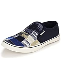 Fucasso Men's Synthetic Blue Casual Canvas Shoes