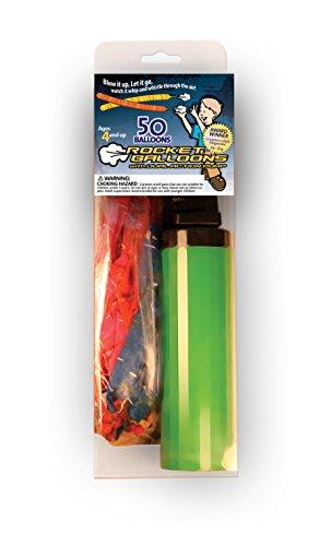 Stomp Rocket Stomp Rocket Balloon with Dual Action Pump, Colors May Vary