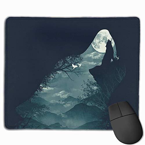 Hungrige Wolf-Kunst-Mausunterlage besonders angefertigt, erstklassige Rechteck-Mausunterlage, rutschfeste Gummi-Spiel-Mausunterlage für Laptop -