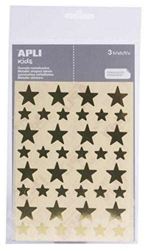 APLI - Bolsa de pegatinas estrella oro