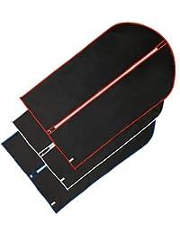 Hangerworld 6 Fundas para Ropa 102cm Impermeable Negro con Cremallera y Bordes en Colores Variados