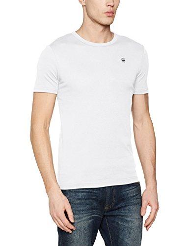 G-STAR RAW Herren T-Shirt Daplin R T S/S Weiß (White 110)