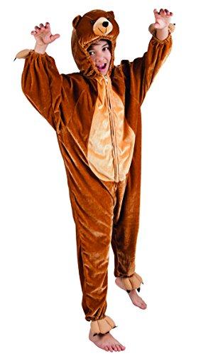 ostüm Bär aus Plüsch, 116 (Bären Anzug Kostüm)