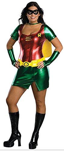 Rubie's Damen Verkleidung Robin, Übergröße, Comic Superheld, Damen, XL / 44-48,Kostüm, - Für Erwachsene Übergröße Batman Kostüm