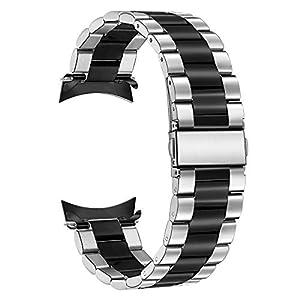 TRUMiRR Armband kompatibel mit Galaxy Watch 46mm/Gear S3 Armband, 22mm Solid Metal Edelstahlband Ersatz Uhrenarmband Business Armband für Samsung Gear S3 Frontier Classic Sport Smartwatch