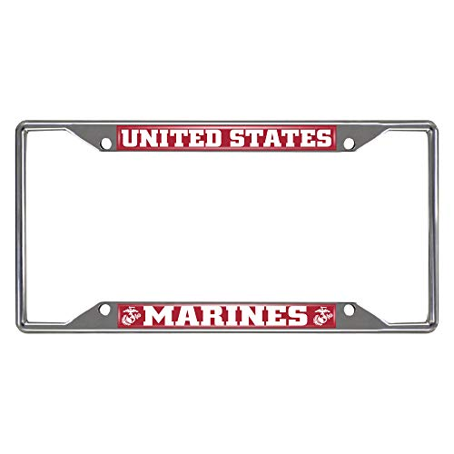 FANMATS U.S. Marines License Plate Frame 6.25