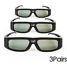 Confezione da 3 Occhiali 3D attivi SainSonic Zodiac 904 Series