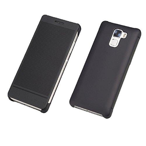 Los Angeles c2a55 4cc4d tongshi Per Huawei Honor 7 Case Cover flip di Windows intelligente (Nero)