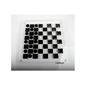 Faberplast-FB637 Damas De Metacrilato, Color Transparente/Negro (FB637)