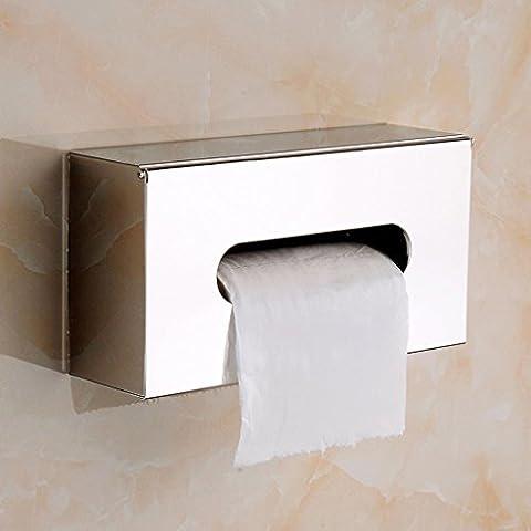 BOBE SHOP- Acier inoxydable Coffrets toilettes Tissue toilettes Papier imperméable Cassette Tray toilettes Hygiène Rouleau Holder Pompage Plateau