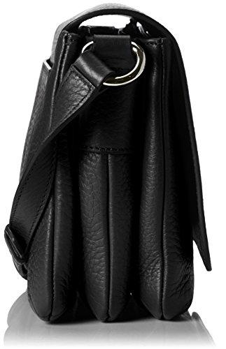 Bogner Damen Eda Umhängetasche, 7x19x25 cm Schwarz (Black)