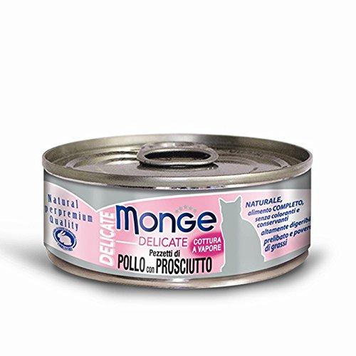 Monge Cat Delicate Pollo e Prosciutto 80 gr 1 Lattina