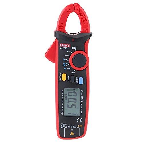 Tenlacum UNI-T UT210D Digital AC / DC Courant Tension Résistance Capacitance température pince multimètre multimètre Mesure de température Gamme Auto