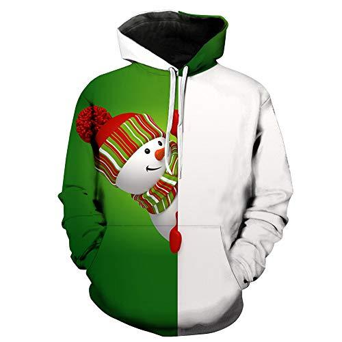 ie Sweatshirt Hoodie Männer Kapuzenpullover 3D Print Langarm Pullover Mantel Winter Herbstliche Weihnachten Kostüm, viele Farben, M-5XL ()
