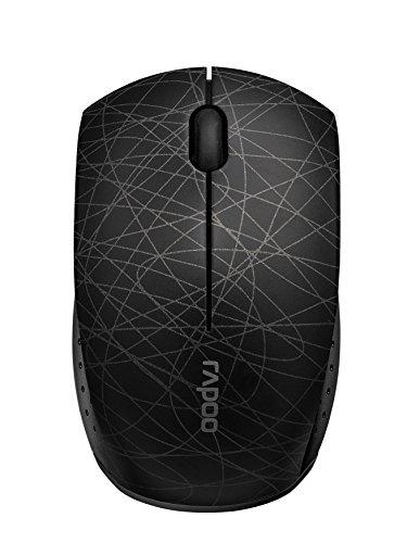 Rapoo 3300P+ kabellose Super Mini Maus (Nano-USB für PC, Laptop, Macbook) schwarz