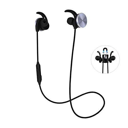 riversong Wireless Bluetooth Auriculares con micrófono estéreo Headset diadema con micrófono Sweatproof Correr Auriculares Bluetooth V4.1Reducción de ruido CVC 6.0