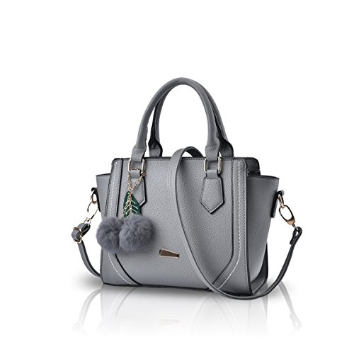 Bilis, Borsa a mano donna, Black (nero) - Bilis-493 Light Grey