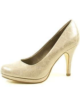 Tamaris 1-22407-29-350 Schuhe Plateau Pumps High Heels Stiletto Metallic