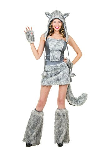 Women's Sexy Wolf Fancy dress costume Medium (Wolf Erwachsene Sexy)