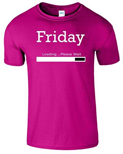 Friday Loading Weekend Frauen Der Männer T Shirt Heliconia / Weiß Design