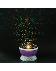 Efinito Star Projector with 4 LED Bulbs 8 Color Changing Night Light Projector