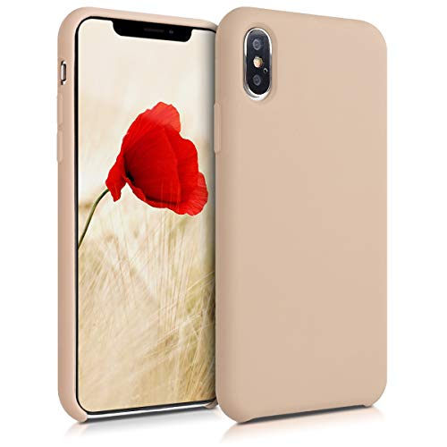 kwmobile Apple iPhone XS Max Hülle - Handyhülle für Apple iPhone XS Max - Handy Case in Perlmutt