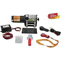 Cabrestante Electrico Winch 12v 1360Kg 3000Lbs Cabestrante Con Cable Acero Incluye Mando a Distancia Placa de Montaje