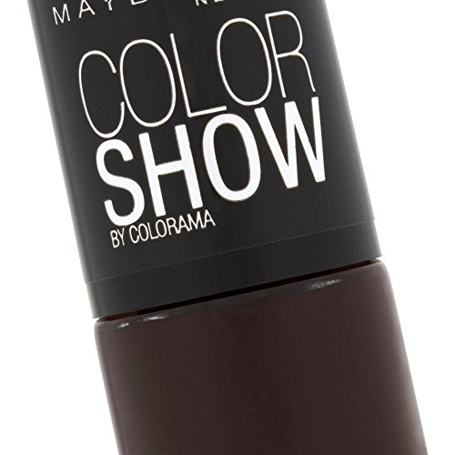 Maybelline New York Make-Up Nailpolish Color Show Nagellack Burgundy Kiss / Ultra glänzender Farblack in sattem Weinrot, 1 x 7 ml - 3