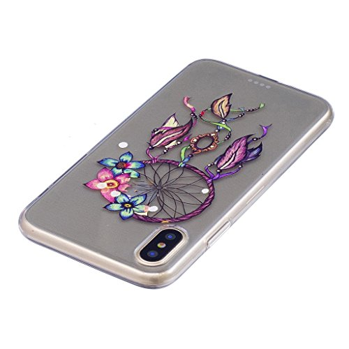 "Coque pour Apple iPhone X , IJIA Transparent Cheval TPU Doux Silicone Bumper Case Cover Shell Housse Etui pour Apple iPhone X (5.8"") FD10"