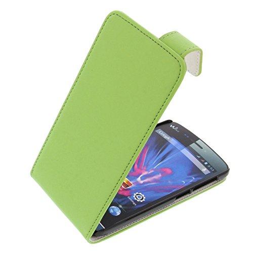 foto-kontor Tasche für Wiko Wax Wax 4G Flipstyle Schutz Hülle Handytasche grün