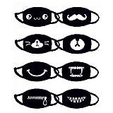 Koobea 8 Pezzi Cotone Maschera, Antipolvere Maschera,Mascherina Bocca,Bicicletta Maschera, Kawaii Morbido Caldo Maschera