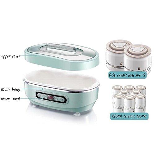 GYY Joghurtbereiter KMMF suannaiji Joghurt Maker Home Automatische Keramik Tassen Mini Reis Wein Natto Maschine (Farbe : Green)