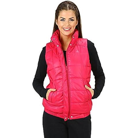 Adidas - Chaleco acolchado para mujer negro rosa Talla:M