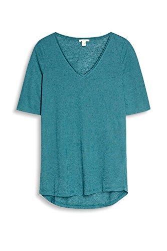ESPRIT Damen Langarmshirt Blau (Petrol Blue 450)