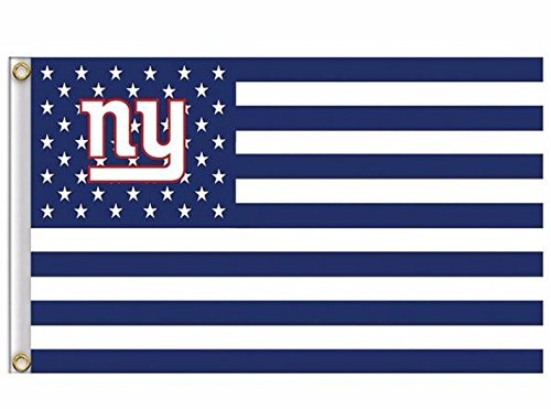 NFL New York Giants Stars and Stripes Flagge Banner - 3 x 5 ft - USA Flagge