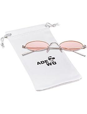 414935289f ADEWU Gafas de sol para mujer, gafas ovaladas pequeñas Gafas vintage  redondas con borde de
