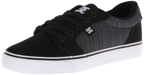 DC Shoes Anvil Tx, Chaussures basses hommes Black - Black Pinstripe