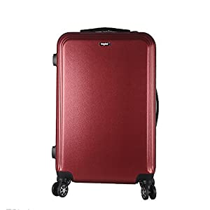 """Sunydeal ABS Hard Shell Luggage Super Lightweight Waterproof Travel Bags 4 Wheel Spinning Suitcase 20"""" Black"""
